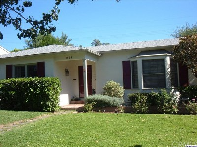 Glendale Single Family Home For Sale: 1428 Idlewood Road