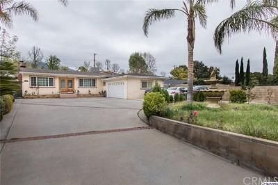Tujunga Single Family Home For Sale: 9424 Tujunga Canyon Boulevard