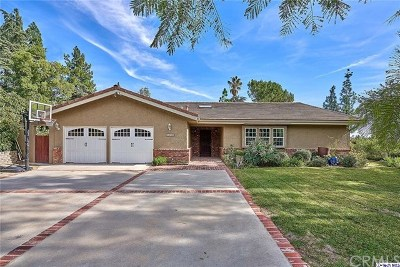 La Canada Flintridge Single Family Home For Sale: 5386 Harter Lane