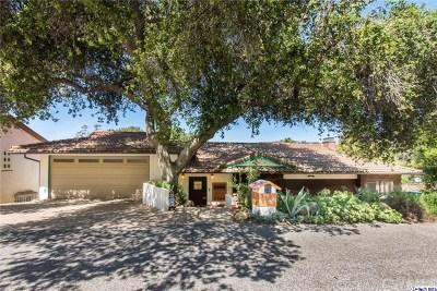 Glendale Single Family Home For Sale: 3480 Linda Vista Road