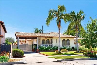Single Family Home For Sale: 847 N Evergreen Street