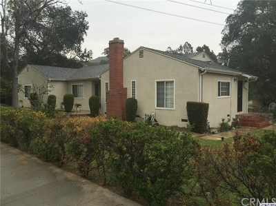Glendale Single Family Home For Sale: 2950 Canada Boulevard