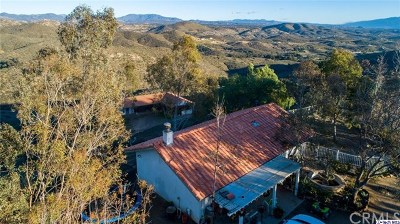 Canyon Lake, Lake Elsinore, Menifee, Murrieta, Temecula, Wildomar, Winchester Rental For Rent: 33800 Black Mountain Road