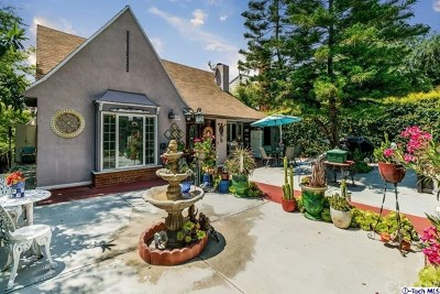 Glendale Single Family Home For Sale: 1627 N Verdugo Road