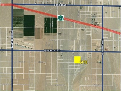 Lucerne Valley Residential Lots & Land For Sale: .foothill Road