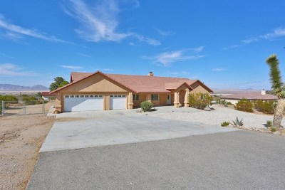 Lucerne Valley CA Single Family Home For Sale: $339,000