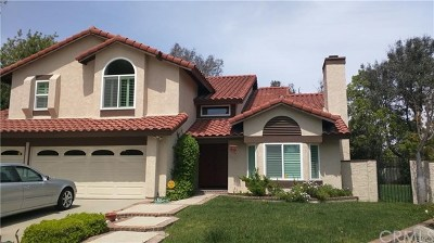 Diamond Bar Single Family Home For Sale: 1502 Rustic Court