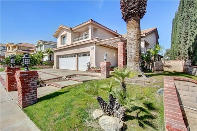 Chino Hills Single Family Home For Sale: 2402 Canyon Terrace Drive