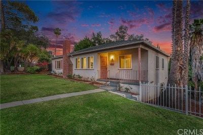 Pasadena Single Family Home For Sale: 1460 N Marengo Avenue