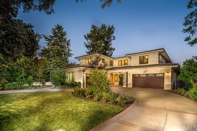 Arcadia Single Family Home For Sale: 110 W La Sierra Drive