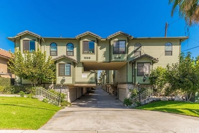 Monrovia Condo/Townhouse For Sale: 1340 S Mayflower Avenue #F