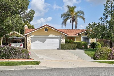 Chino Hills Single Family Home For Sale: 3372 Gabriel Drive