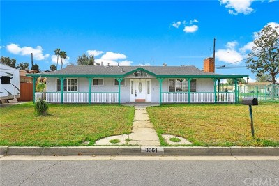 Rancho Cucamonga Single Family Home For Sale: 8661 Monte Vista Street