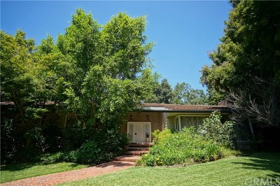 San Marino Single Family Home For Sale: 1165 Rosalind Road
