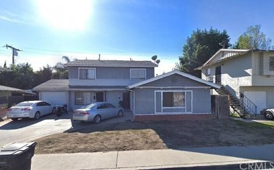 El Monte Multi Family Home For Sale: 11050 Elmcrest Street
