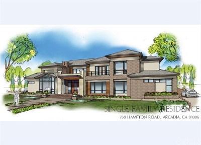 Arcadia Single Family Home For Sale: 758 Hampton Road