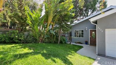 La Crescenta Single Family Home For Sale: 2428 Olive Avenue