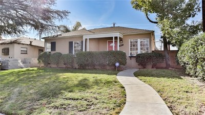 Burbank Single Family Home For Sale: 837 N Griffith Park Drive