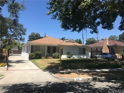 Pasadena Single Family Home For Sale: 481 Eaton Drive