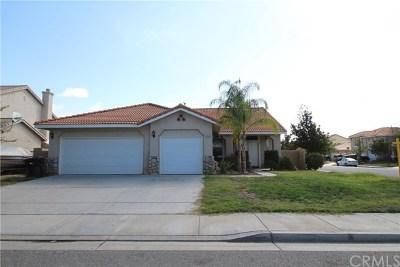 Menifee Single Family Home For Sale: 25552 Riley Circle
