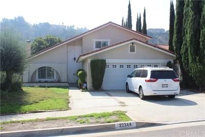 Diamond Bar CA Single Family Home For Sale: $760,000