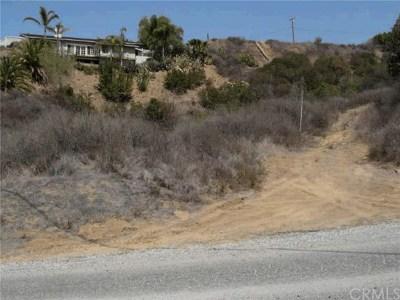 Modjeska Canyon, Silverado Canyon Residential Lots & Land For Sale: Williams Canyon Rd.