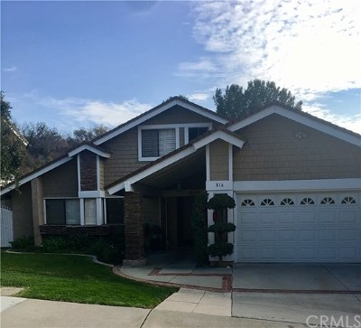 San Dimas Single Family Home For Sale: 816 Calle Carrillo