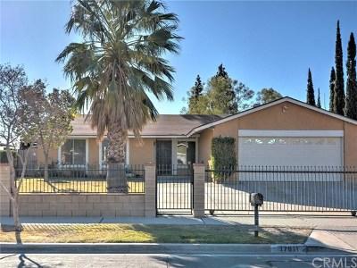Fontana Single Family Home For Sale: 17611 Wabash Avenue