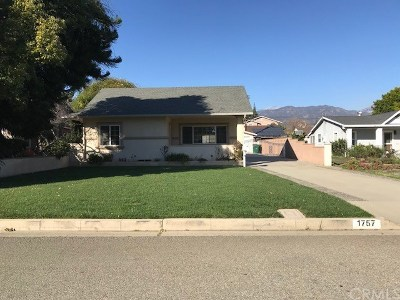 La Verne Single Family Home For Sale: 1757 5th Street