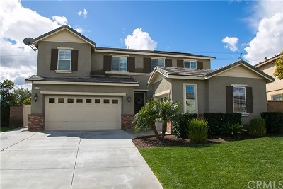 Eastvale Single Family Home Active Under Contract: 14417 Badger Lane