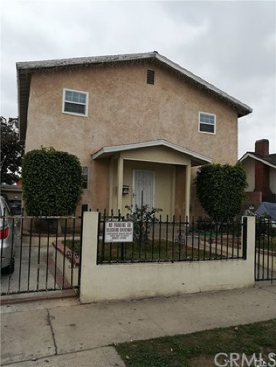 Los Angeles Single Family Home For Sale: 1132 E 67th Street