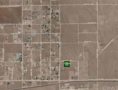 San Bernardino County Residential Lots & Land For Sale: Via Seco