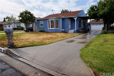 Covina Single Family Home For Sale: 16242 E Benwood Street