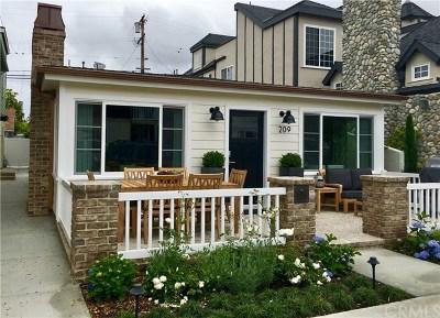 Newport Beach Rental For Rent: 209 Opal Avenue #2
