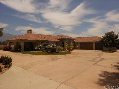 Banning Single Family Home For Sale: 42950 Longhorn Road