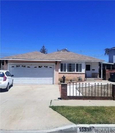 Norwalk Single Family Home For Sale: 15318 Lancelot Avenue