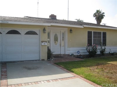 Covina Single Family Home For Sale: 16060 Cypress Street