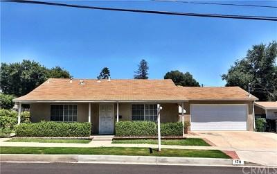 San Dimas Single Family Home For Sale: 170 N Cataract Avenue