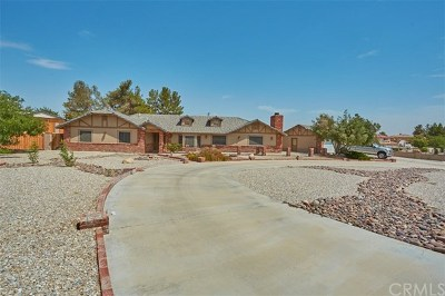 Apple Valley Single Family Home For Sale: 19989 Cronese Lane