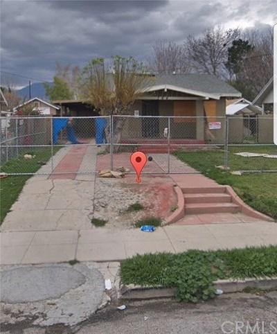 San Bernardino CA Single Family Home For Sale: $110,000
