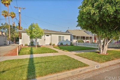 Glendora Single Family Home For Sale: 421 N Vermont Avenue