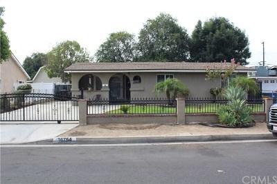 Covina Single Family Home For Sale: 16754 E Brookport Street