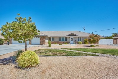 Apple Valley Single Family Home For Sale: 13915 Rincon Road