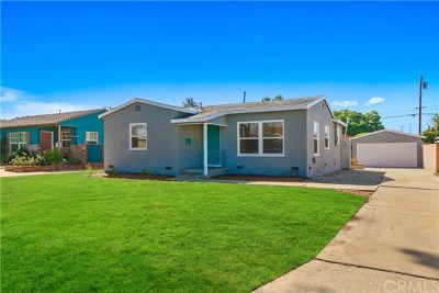 West Covina Single Family Home For Sale: 1706 E Idahome Street