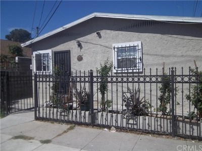 Los Angeles Single Family Home For Sale: 519 W 65th Street