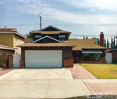 Whittier Single Family Home For Sale: 14757 Glenn Drive
