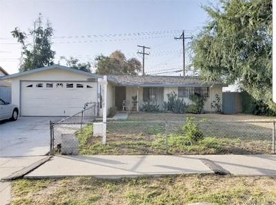 Pomona Single Family Home For Sale: 2827 Santez Drive