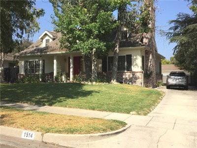 San Marino Single Family Home For Sale: 1514 Vandyke Road