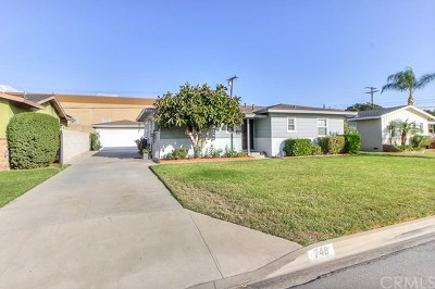 Glendora Single Family Home For Sale: 748 Brightview Drive