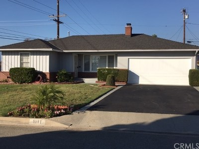 West Covina Single Family Home For Sale: 1011 E Greendale Street